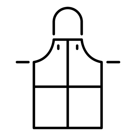 Welder apron icon. Outline welder apron vector icon for web design isolated on white background