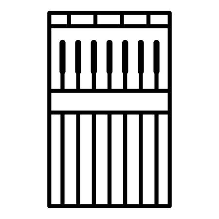 Welder stick icon, outline style Stock Vector - 112435775