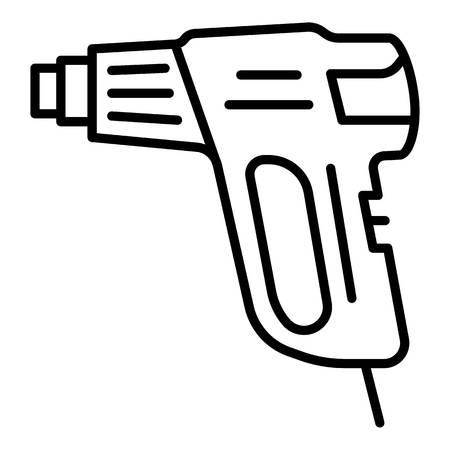 Welder pistol icon, outline style
