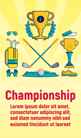 Championship concept banner. Cartoon banner of championship vector concept for web, giftcard and postcard Ilustração
