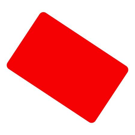 Red card icon. Flat illustration of red card vector icon for web design