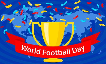 Global soccer day concept banner. Flat illustration of global soccer day vector concept banner for web design