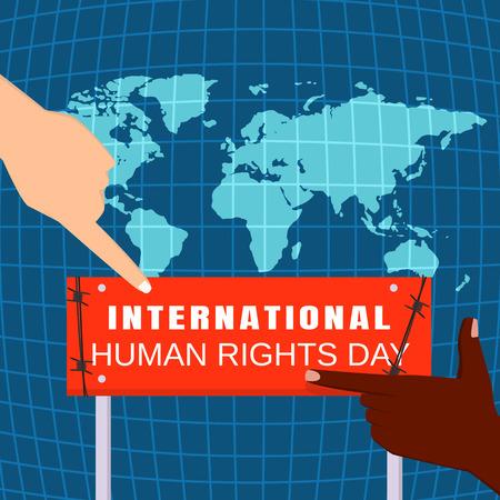 Fond de concept de la journée mondiale des droits de l'homme, style plat