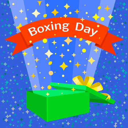 Happy boxing day concept background. Flat illustration of happy boxing day vector concept background for web design Standard-Bild - 127243286