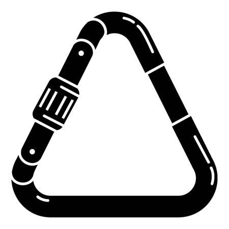 Triangular carabine icon, simple style Archivio Fotografico - 112950473