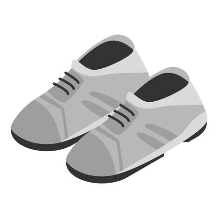 Grey shoes icon. Isometric of grey shoes vector icon for web design isolated on white background