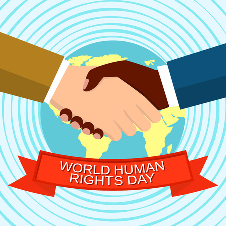 World human rights day concept background. Flat illustration of world human rights day vector concept background for web design Illustration