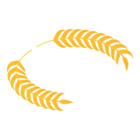Gold laurel icon. Isometric of gold laurel vector icon for web design isolated on white background Illustration