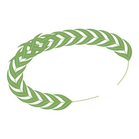 Laurel wreath icon. Isometric of laurel wreath vector icon for web design isolated on white background