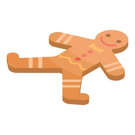 Gingerbread icon. Isometric of gingerbread vector icon for web design isolated on white background