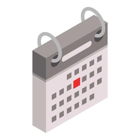 Festive date calendar icon. Isometric of festive date calendar vector icon for web design isolated on white background Ilustração