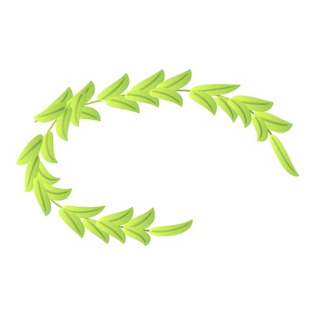 Olive laurel icon, isometric style Ilustração Vetorial