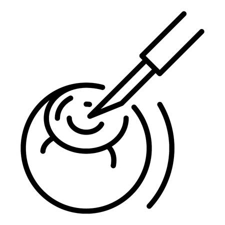 Eye surgery icon, outline style