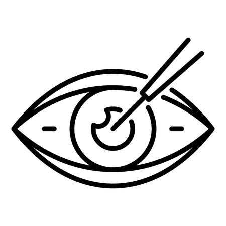 Eyeball care icon. Outline eyeball care vector icon for web design isolated on white background Stock Vector - 127243447
