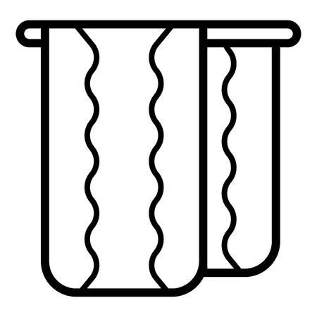 Massagetuch-Symbol. Umriss-Massagetuch-Vektorsymbol für Webdesign isoliert auf weißem Hintergrund Vektorgrafik