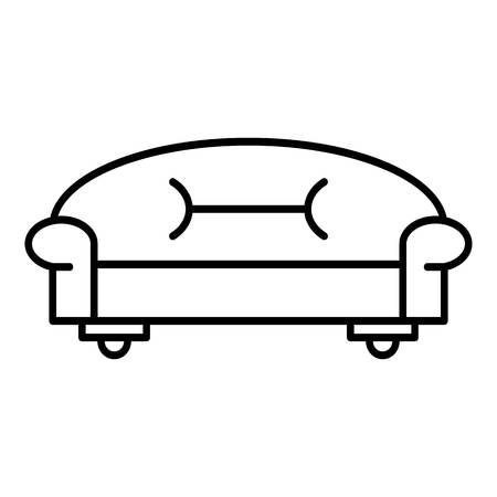 Classic Sofa Icon Outline Style Royalty Free Cliparts Vectors And
