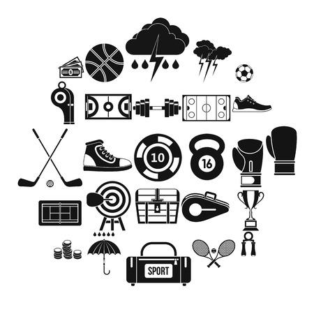 Enhanced training icons set. Simple set of 25 enhanced training vector icons for web isolated on white background Illustration