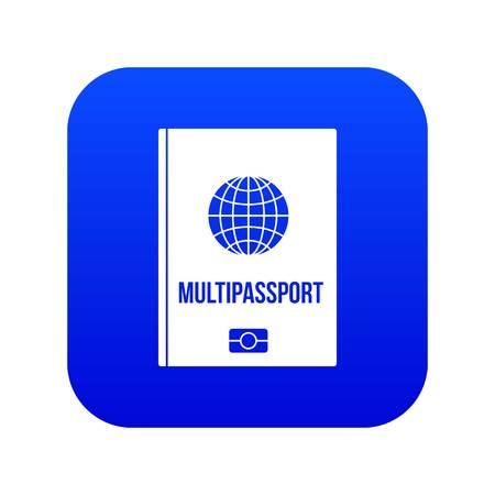 Multipassport icon digital blue for any design isolated on white vector illustration Illustration