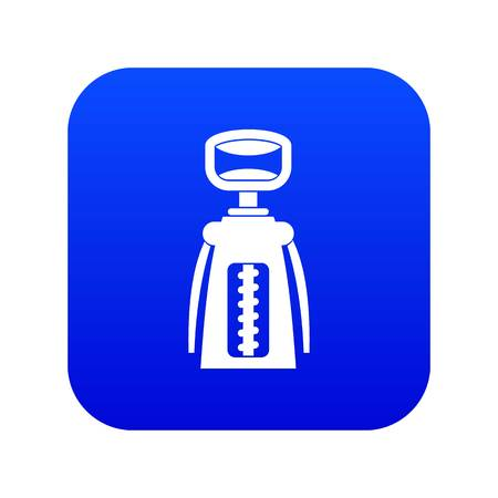 Modern corkscrew icon digital blue for any design isolated on white vector illustration Archivio Fotografico - 127224134