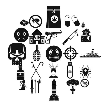 Tension icons set. Simple set of 25 tension vector icons for web isolated on white background
