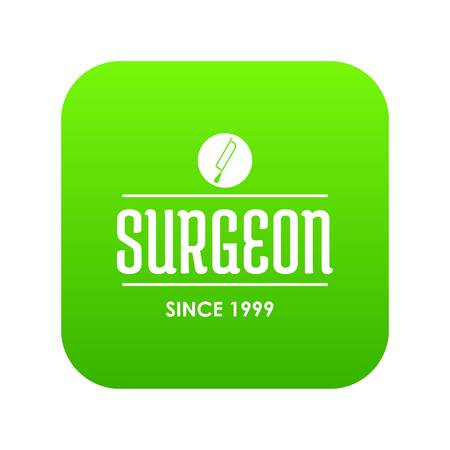 Surgeon icon green vector Illustration