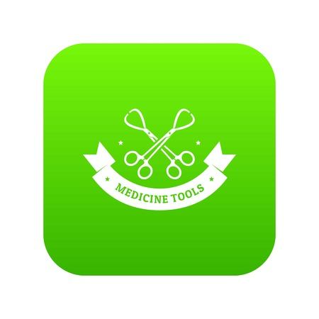 Instrument for medicine icon green vector