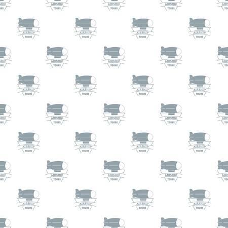 Sky dirigible pattern vector seamless