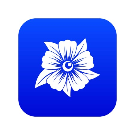 Flower icon digital blue for any design isolated on white vector illustration