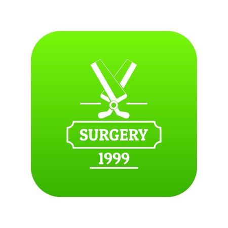 Surgery icon green vector