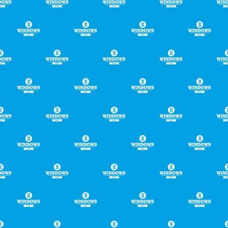 Best window pattern vector seamless blue