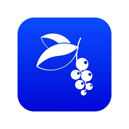 Currant berries icon digital blue for any design isolated on white vector illustration