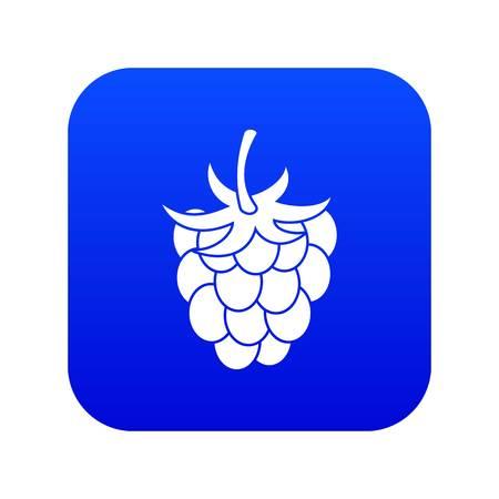 Raspberry icon digital blue Illustration