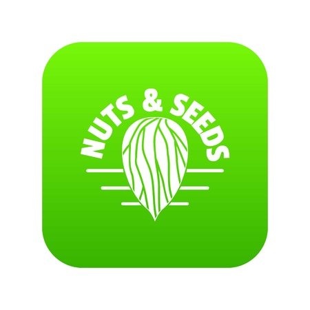 Nut and seed company icon green vector