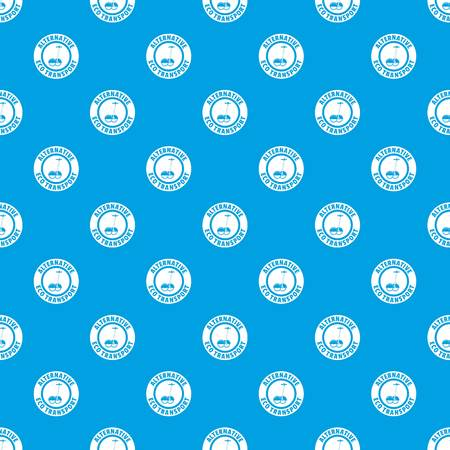 Personal scooter pattern vector seamless blue