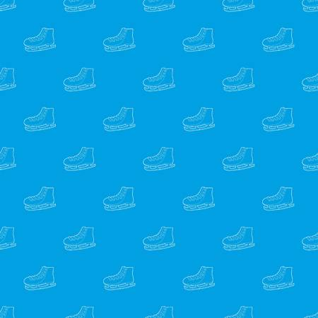 Ice skate pattern seamless blue repeat for any use