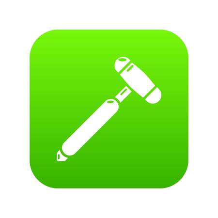 Medical mallet icon. Simple illustration of medical mallet icon for web.