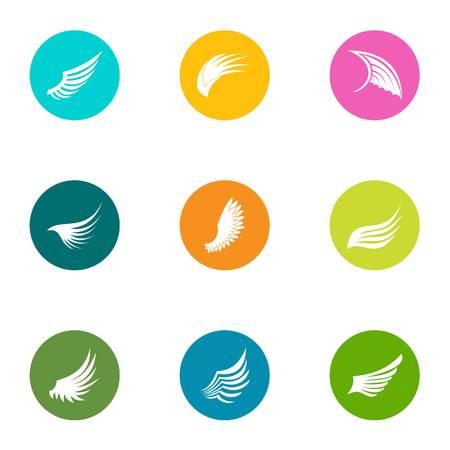 Surface icons set. Flat set of 9 surface icons for web isolated on white background