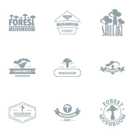 Forest stand logo set. Simple set of 9 forest stand logo for web isolated on white background