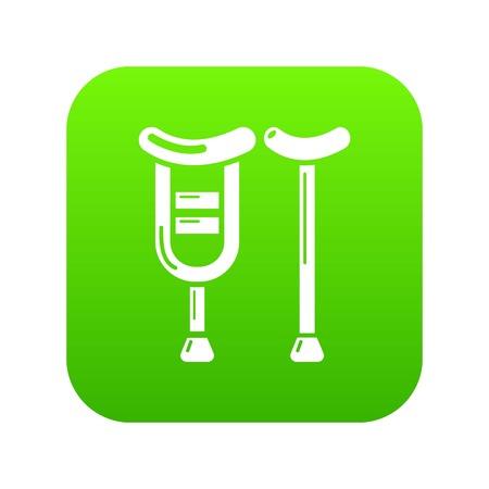 Crutch icon, simple style.