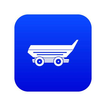 Car trailer icon digital blue for any design isolated on white vector illustration Illustration