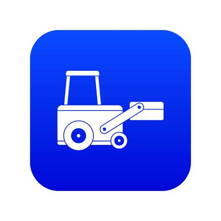 Truck to lift cargo icon digital blue for any design isolated on white vector illustration