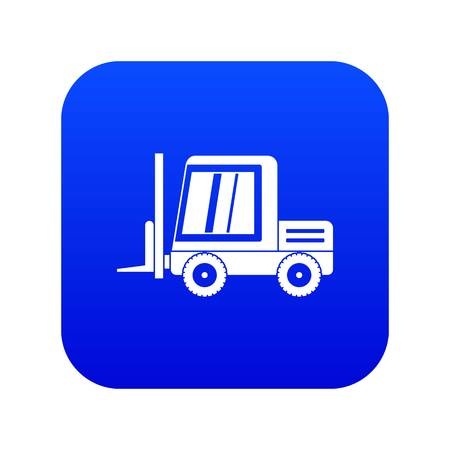Stacker loader icon digital blue for any design isolated on white vector illustration