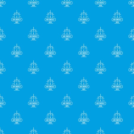 Air energy pattern vector seamless blue