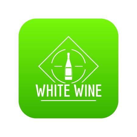 Wine icon green vector Illustration