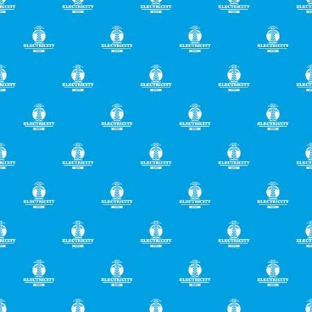 Power station pattern vector seamless blue Illustration