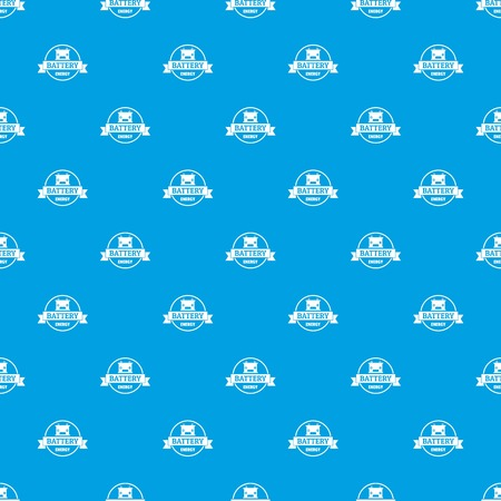 Car battery pattern vector seamless blue