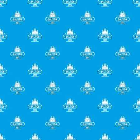 Royal bastion pattern vector seamless blue Illustration