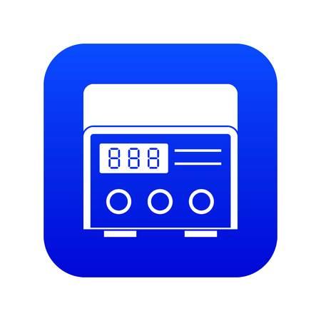 Professional tattoo machine icon digital blue