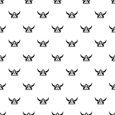 Viking helmet pattern vector seamless