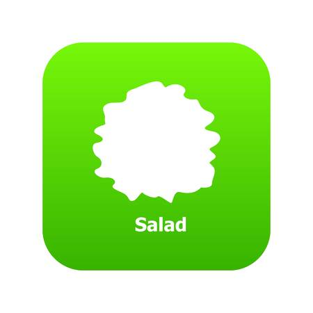 Salad icon green vector isolated on white background